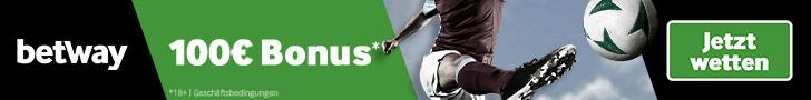 Fußballwetten bei Betway banner 728x90