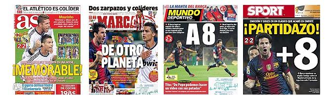 Die Schlagzeilen der spanischen Sportpresse zum 2-2