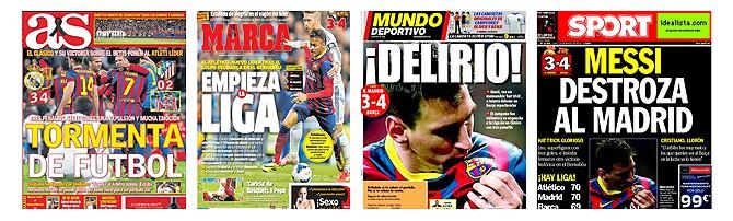 Die Schlagzeilen der spanischen Sportpresse zum 3-4.