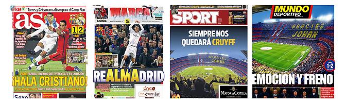 Die Schlagzeilen der spanischen Sportpresse zum 1-2.