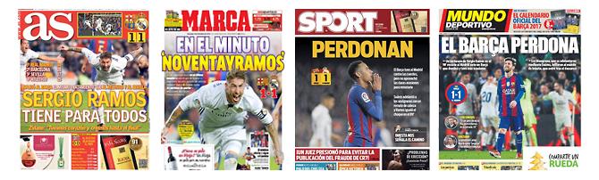 Die Schlagzeilen der spanischen Sportpresse zum 0-4.