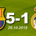 FC Barcelona 5 - 1 Real Madrid (28.10.2018)