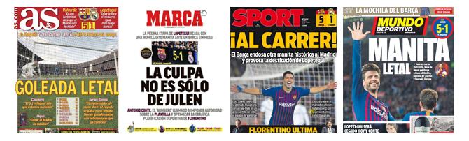 Die Schlagzeilen der spanischen Sportpresse zum 5-1.
