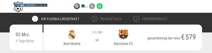 Clásico Fussballreise ab 579€
