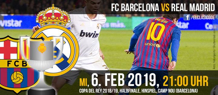 FC Barcelona - Real Madrid: Vorschau und Infos (06.02.2019)