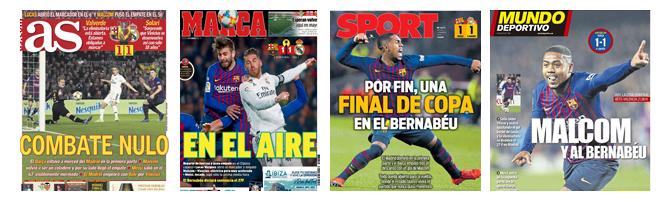 Die Schlagzeilen der spanischen Sportpresse zum 1-1.