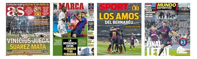 Die Schlagzeilen der spanischen Sportpresse zum 0-3.