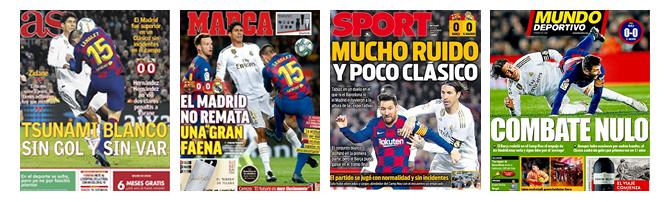 Die Schlagzeilen der spanischen Sportpresse zum 0-0.