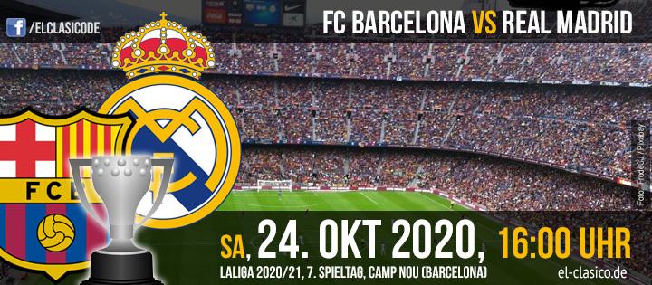 245. Clásico: FC Barcelona - Real Madrid (24.10.2020)